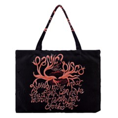 Panic At The Disco   Lying Is The Most Fun A Girl Have Without Taking Her Clothes Medium Tote Bag by Onesevenart