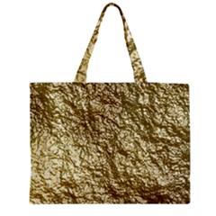 Crumpled Foil 17c Medium Tote Bag by MoreColorsinLife