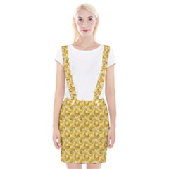 Yellow Banana Pattern Braces Suspender Skirt by NorthernWhimsy