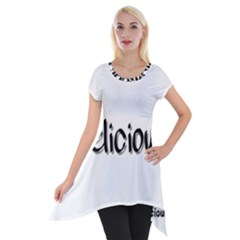 Belicious Logo Short Sleeve Side Drop Tunic by beliciousworld