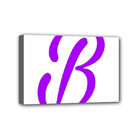 Belicious World  b  Purple Mini Canvas 6  X 4  by beliciousworld