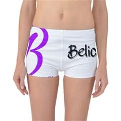 Belicious World  b  Purple Reversible Boyleg Bikini Bottoms by beliciousworld