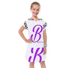 Belicious World  b  Purple Kids  Drop Waist Dress by beliciousworld