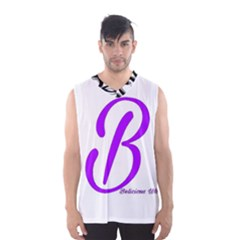 Belicious World  b  Blue Men s Basketball Tank Top by beliciousworld