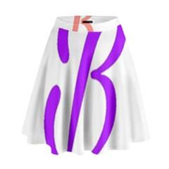 Belicious World  b  Coral High Waist Skirt by beliciousworld