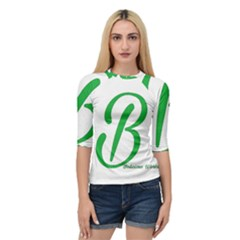 Belicious World  b  In Green Quarter Sleeve Tee by beliciousworld