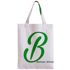 Belicious World  b  In Green Zipper Classic Tote Bag by beliciousworld