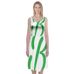 Belicious World  b  In Green Midi Sleeveless Dress by beliciousworld