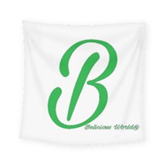 Belicious World  b  In Green Square Tapestry (small) by beliciousworld