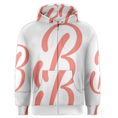 Belicious World  b  In Coral Men s Zipper Hoodie by beliciousworld