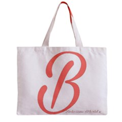 Belicious World  b  In Coral Zipper Mini Tote Bag by beliciousworld