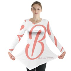 Belicious World  b  In Coral Long Sleeve Tunic  by beliciousworld