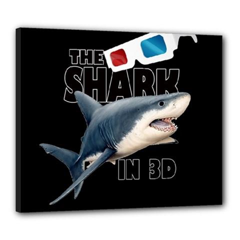 The Shark Movie Canvas 24  X 20  by Valentinaart