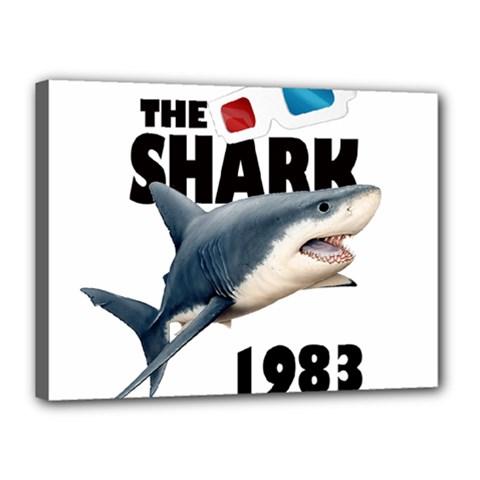 The Shark Movie Canvas 16  X 12  by Valentinaart