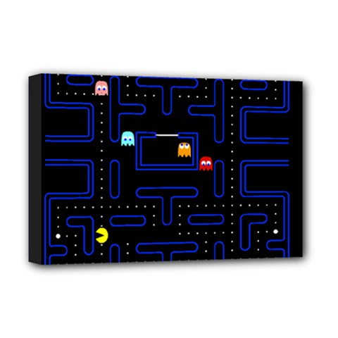 Pac Man Deluxe Canvas 18  X 12   by Valentinaart
