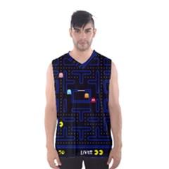 Pac Man Men s Basketball Tank Top by Valentinaart