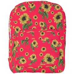 Sunflowers Pattern Full Print Backpack by Valentinaart
