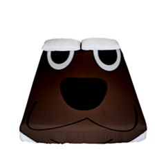 Dog Pup Animal Canine Brown Pet Fitted Sheet (full/ Double Size)