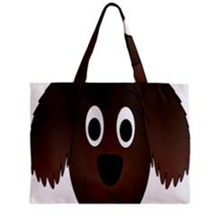 Dog Pup Animal Canine Brown Pet Zipper Mini Tote Bag by Nexatart