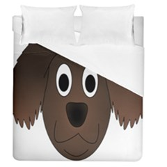 Dog Pup Animal Canine Brown Pet Duvet Cover (queen Size) by Nexatart