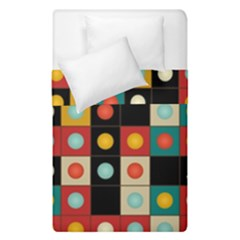 Colors On Black Duvet Cover Double Side (single Size) by linceazul