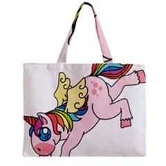 Unicorn Arociris Raimbow Magic Zipper Medium Tote Bag by Nexatart