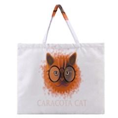 Cat Smart Design Pet Cute Animal Zipper Large Tote Bag by Nexatart