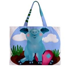 Pig Animal Love Zipper Mini Tote Bag by Nexatart
