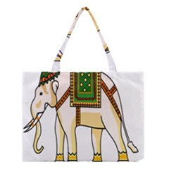 Elephant Indian Animal Design Medium Tote Bag by Nexatart