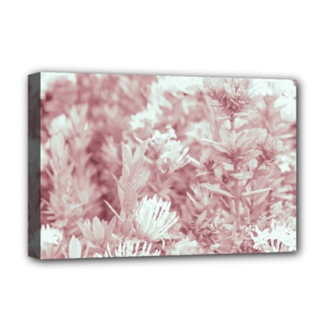 Pink Colored Flowers Deluxe Canvas 18  X 12   by dflcprints