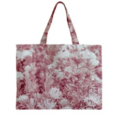 Pink Colored Flowers Zipper Mini Tote Bag by dflcprints