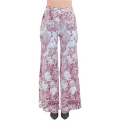 Pink Colored Flowers Pants by dflcprints