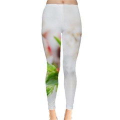 Fragility Flower Petals Tenderness Leaves  Leggings  by amphoto