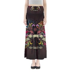 Design Drawing Colorful Creative  Full Length Maxi Skirt by amphoto