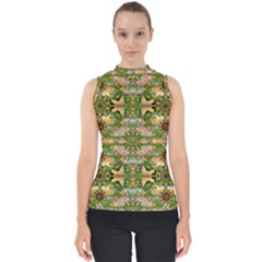 Star Shines On Earth For Peace In Colors Shell Top by pepitasart
