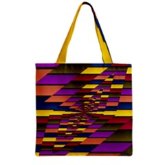 Autumn Check Grocery Tote Bag by designworld65