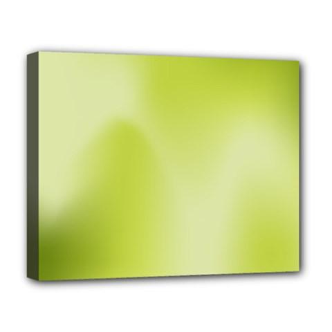 Green Soft Springtime Gradient Deluxe Canvas 20  X 16   by designworld65