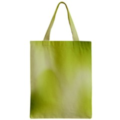 Green Soft Springtime Gradient Zipper Classic Tote Bag by designworld65
