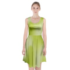 Green Soft Springtime Gradient Racerback Midi Dress by designworld65