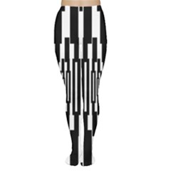 Black Stripes Endless Window Women s Tights by designworld65