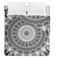 Feeling Softly Black White Mandala Duvet Cover Double Side (queen Size) by designworld65