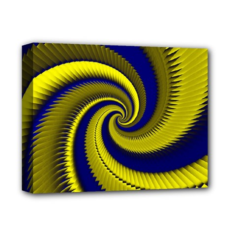 Blue Gold Dragon Spiral Deluxe Canvas 14  X 11  by designworld65