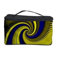 Blue Gold Dragon Spiral Cosmetic Storage Case by designworld65