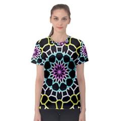 Colored Window Mandala Women s Sport Mesh Tee by designworld65