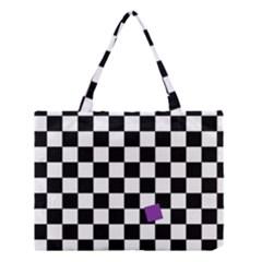 Dropout Purple Check Medium Tote Bag by designworld65