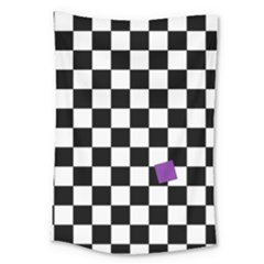 Dropout Purple Check Large Tapestry by designworld65