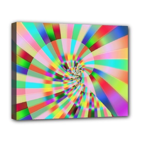 Irritation Funny Crazy Stripes Spiral Deluxe Canvas 20  X 16   by designworld65