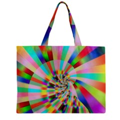 Irritation Funny Crazy Stripes Spiral Zipper Mini Tote Bag by designworld65