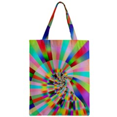 Irritation Funny Crazy Stripes Spiral Zipper Classic Tote Bag by designworld65
