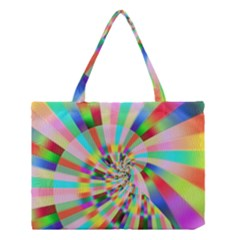 Irritation Funny Crazy Stripes Spiral Medium Tote Bag by designworld65